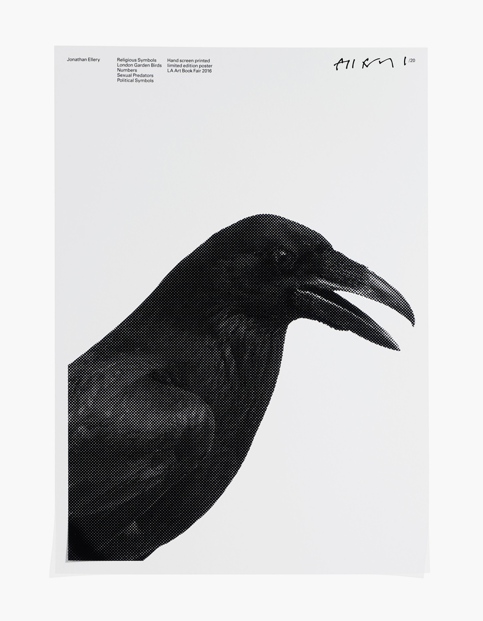Jonathan Ellery, art, Religious Symbols/ London Garden Birds/ Numbers/ Sexual Predators/ Political Symbols
